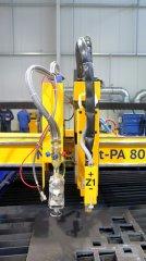 Plasmaschneide-Anlage MicroStep bei Metallbau Schwindl in Kelheim, Detailansicht